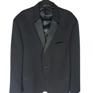 Michael Kors Men's Black Wool Blazer 48L